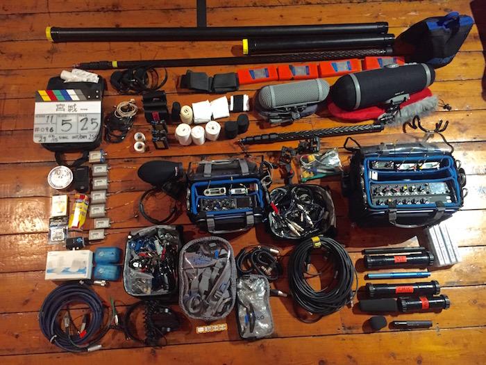 sound mixer kit, 664, 633, 833 sound devices, lectrosonics, mkh-50, cmit